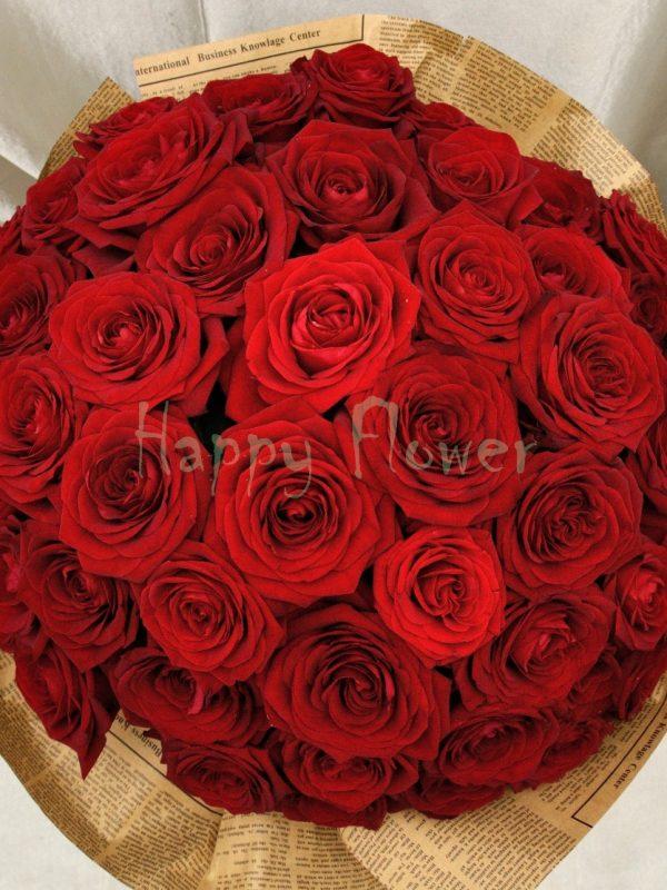 buchet-51-trandafiri-rosii