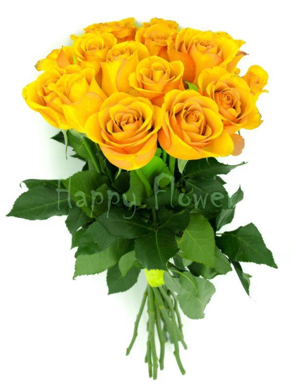 buchet-de-trandafiri galbeni