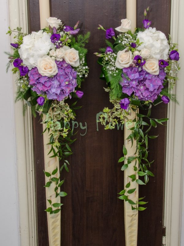 Lumanari nunta hortensii