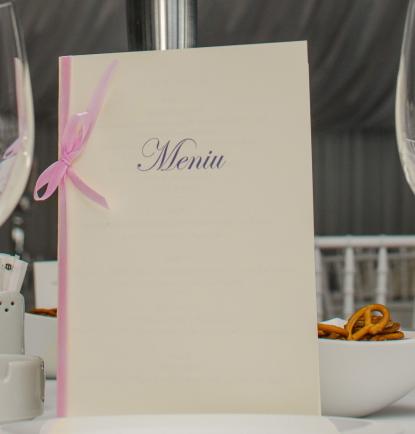 Meniu nunta Classic Pink