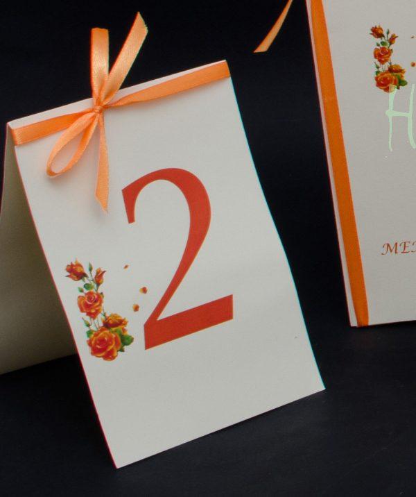 Numar de masa Orange Rose