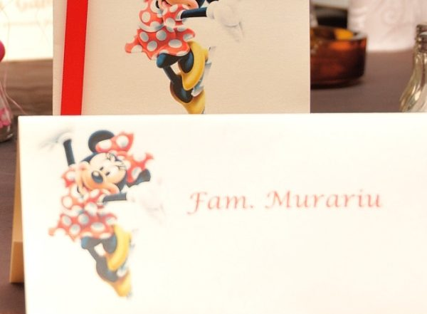 Plic pentru bani botez Minnie Mouse