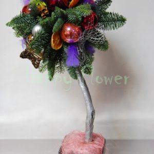 aranjament-craciun-copacel-globuri-mov