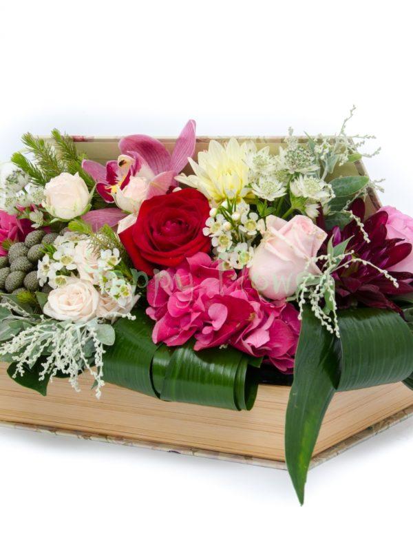 aranjament carte flori