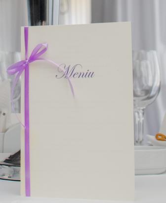 Meniu nunta Classic Purple