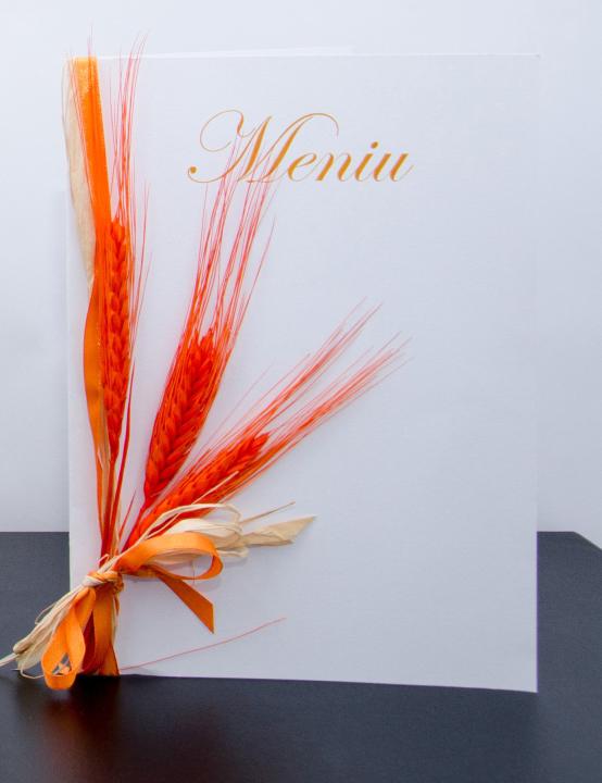 Meniu nunta Spic de Grau portocaliu