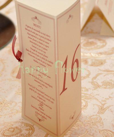 Meniu nunta triunghi Royal Crowne 2