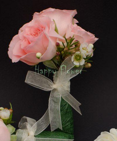 Cocarda miniroze roz