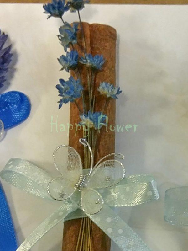 Marturie baton scortisoara Glixia Blue, fluturas