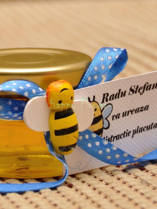 Marturie botez borcan miere albinuta