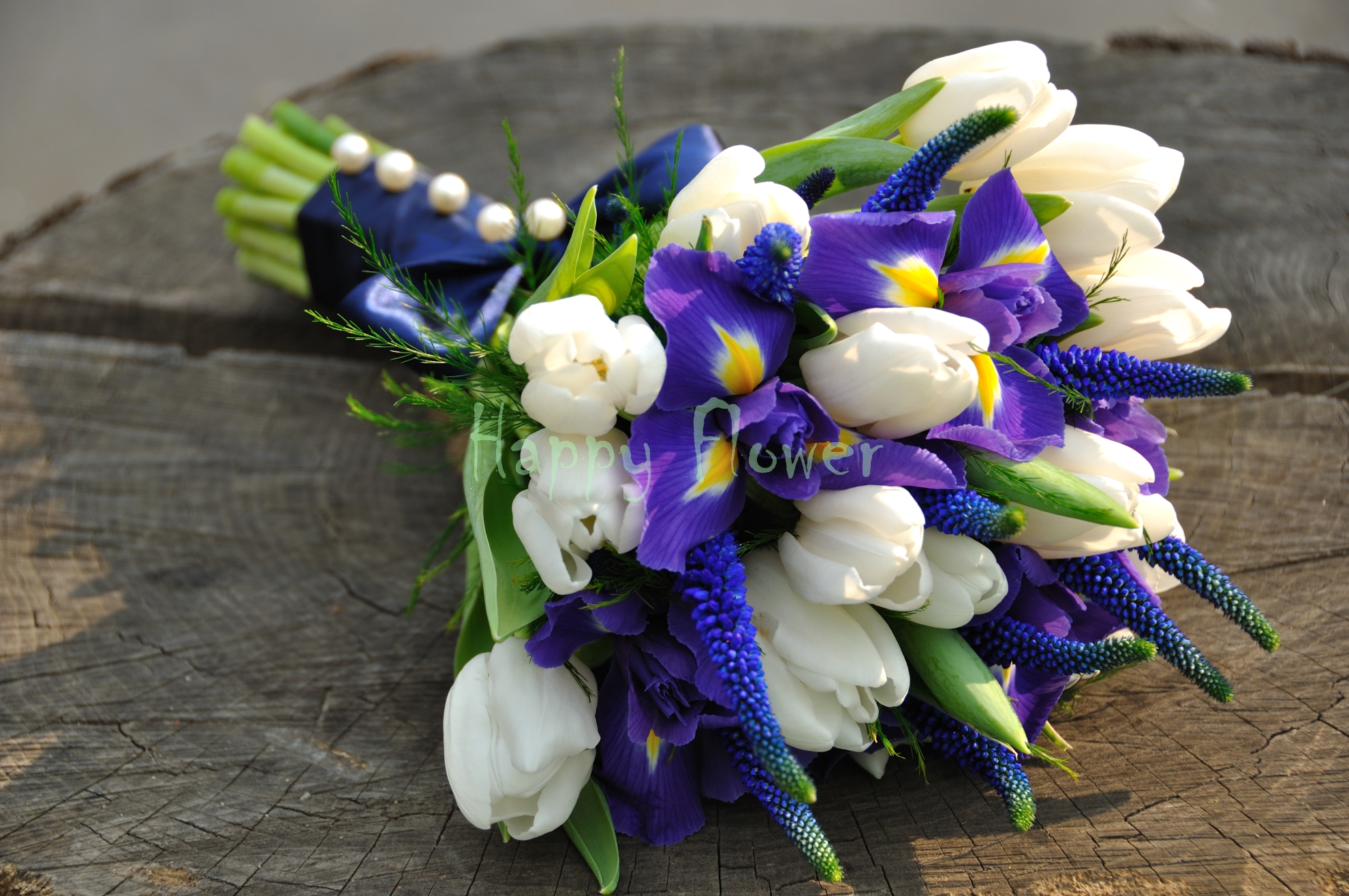 Buchet Cununie Civila Irisi Si Lalele Happy Flower Florarie