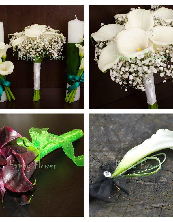 Pachet flori nunta cale