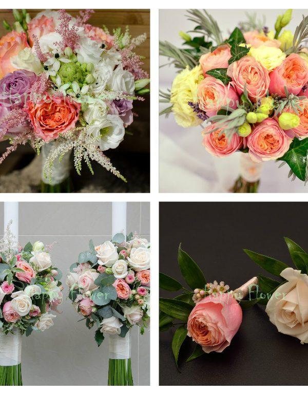 Pachet nunta flori pastel 2