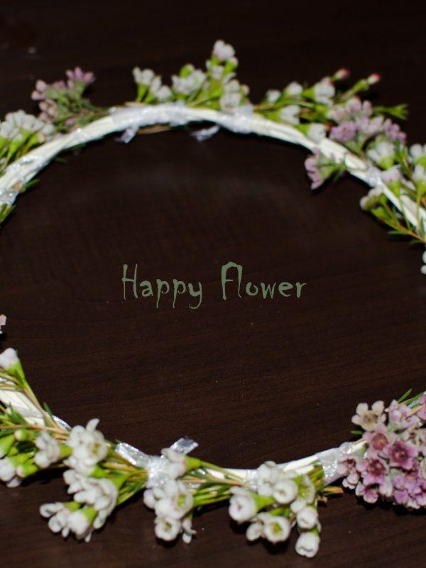 Coronita naturala waxflower alb si roz