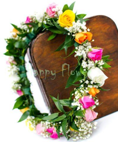 coronita-miniroze-colorate-floarea-miresei