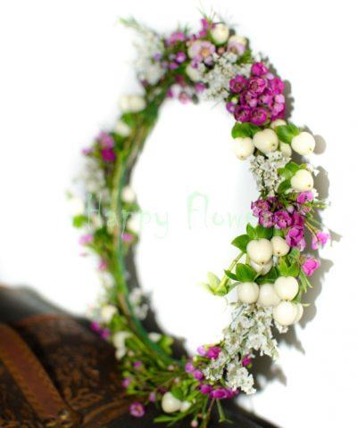 Coronita-flori-naturale-alb-mov