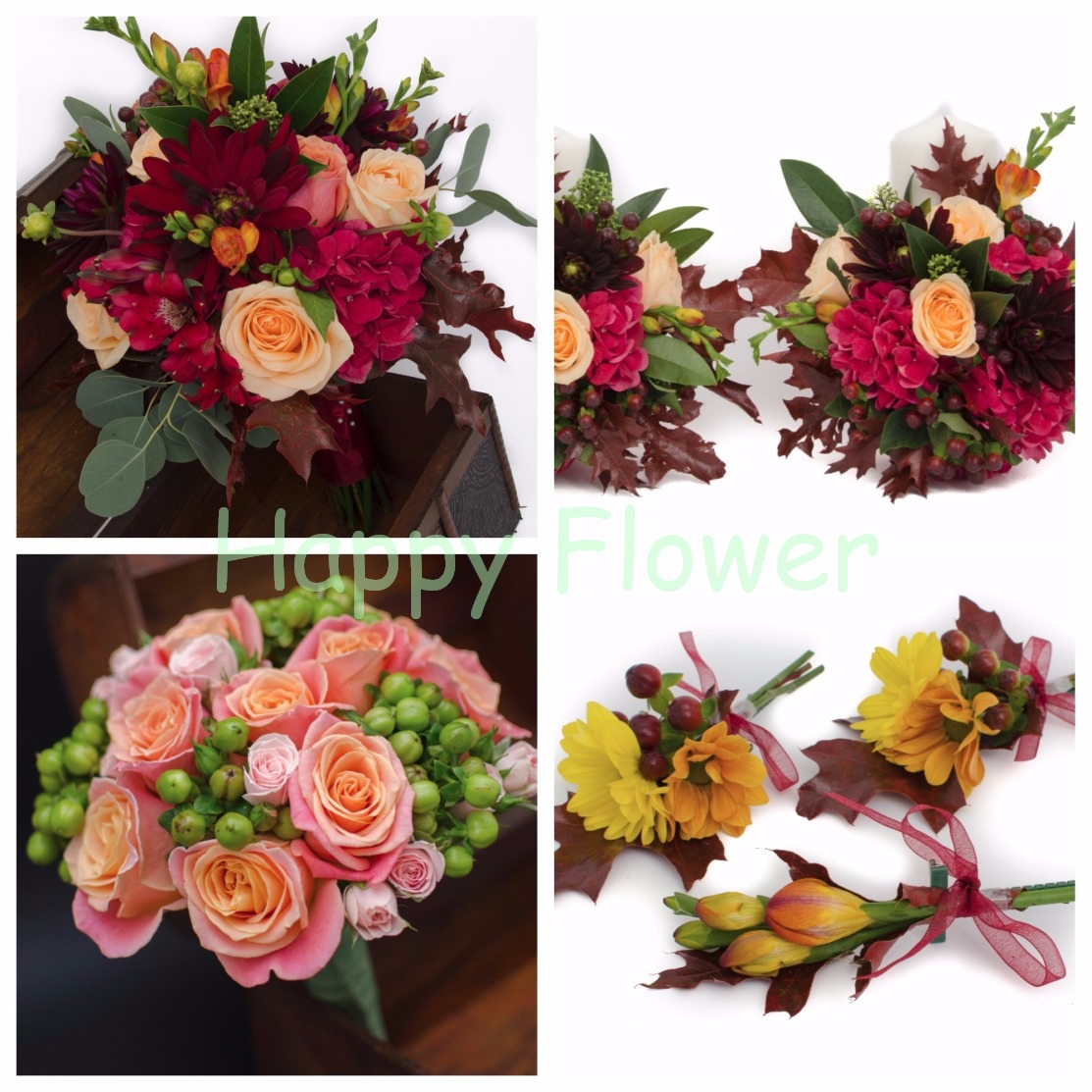 Pachet flori nunta Toamna 1