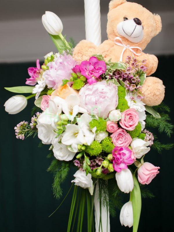 Lumanare-botez-flori-primavara