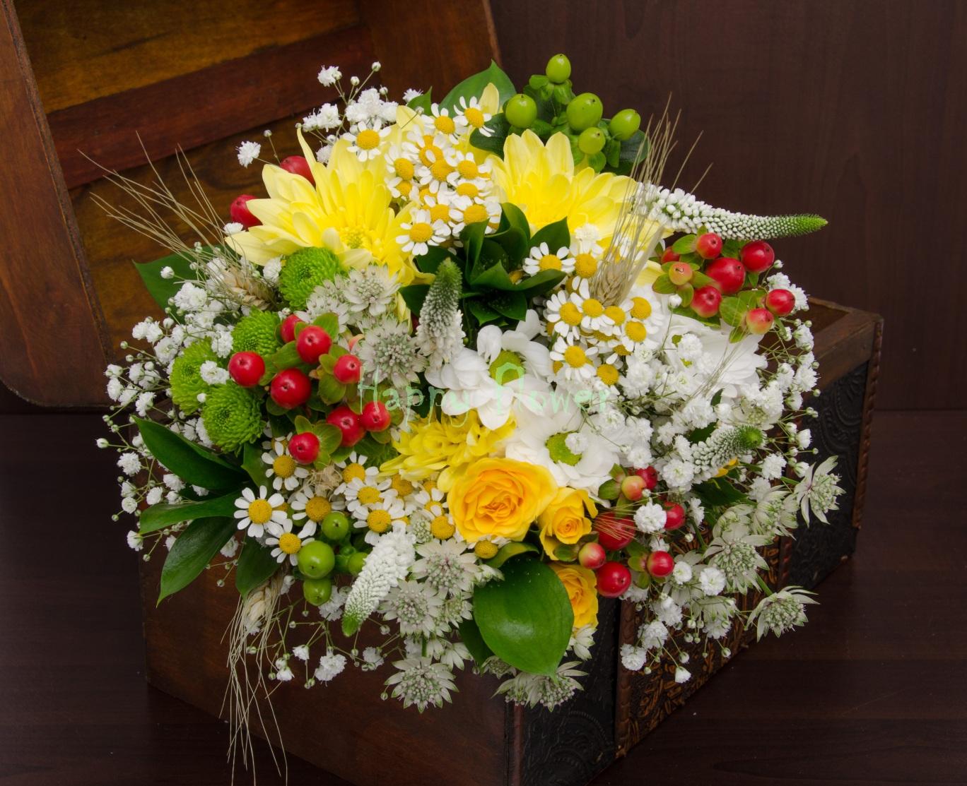 Buchet De Mireasa Cu Flori De Camp Happy Flower Florarie Online