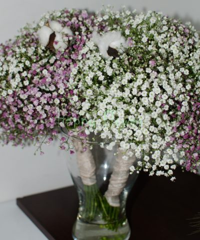 Buchet-mireasa-floarea-miresei-bumbac