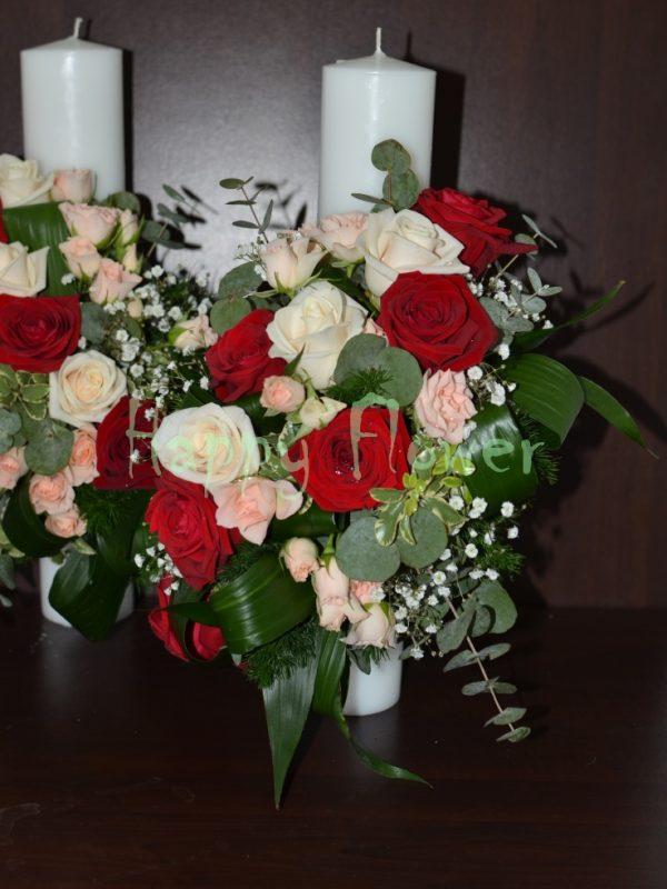 Lumanare-nunta-40cm-trandafiri-rosii-trandafiri-crem-miniroze-roz-pal-eucalipt
