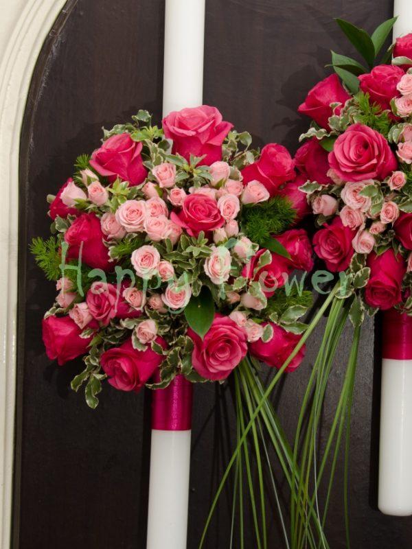 Lumanare-trandafiri-fuchsia-miniroze-roz-pal