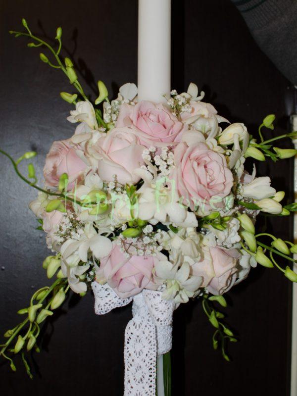 Lumanari-nunta-orhidee-alba-trandafiri-roz-pal