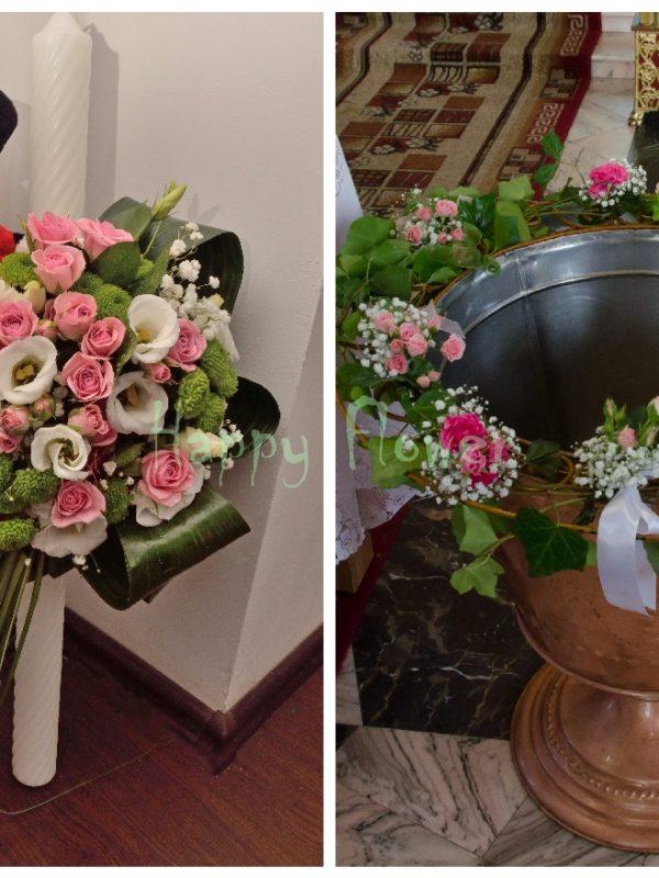 Pachet flori botez standard 4
