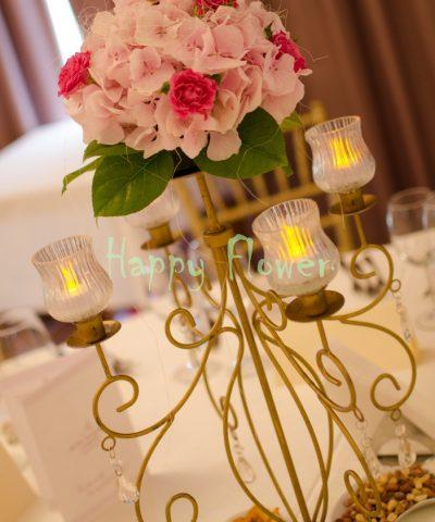 Sfesnic-auriu-hortensii-roz-miniroze-cyclam