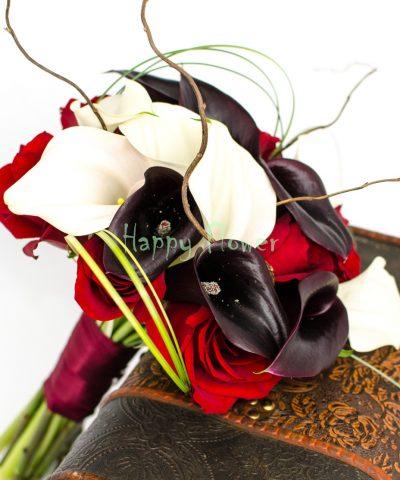 Buchet-mireasa-cale-albe-cale-negre-trandafiri-rosii