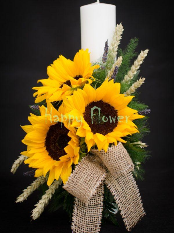 lumanare-botez-floarea-soarelui