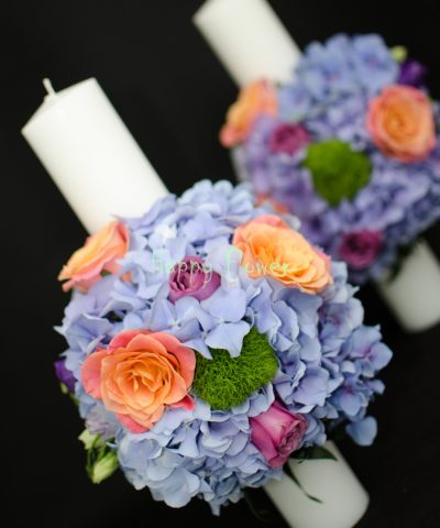 Lumanare-cununie-hortensii-trandafiri