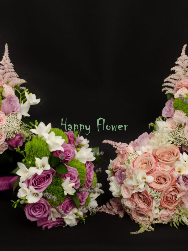 Lumanare-cununie-40-cm-trandafiri-pastel-miniroze-astilbe