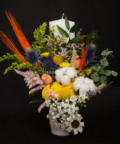 Lumanare-botez-30-cm-flori-de-camp