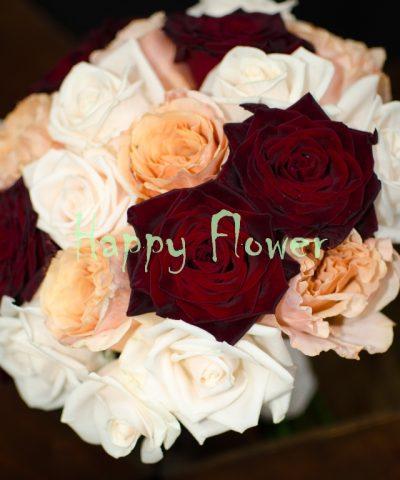 Buchet-mireasa-trandafiri-colorati