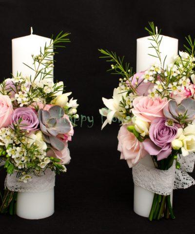 Lumanari-nunta-trandafiri-pastel-plante-suculente