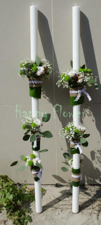 Lumanari-nunta-bumbac-floarea-miresei
