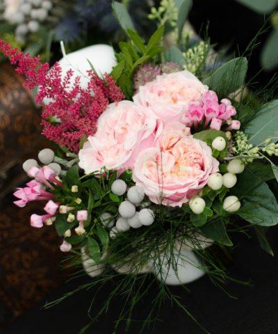 Lumanari nunta trandafiri elglezesti