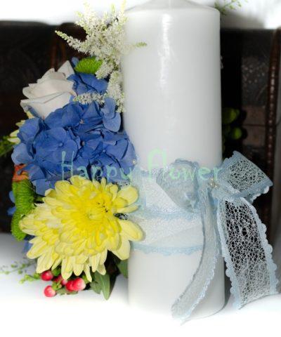 LUmanare-botez-colorata-hortensii-trandafiri