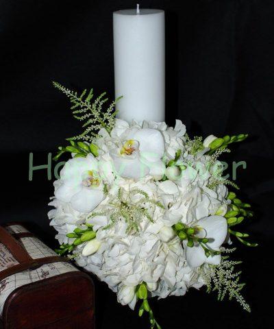lumanare-40-cm-hortensii-albe-orhidee-frezii