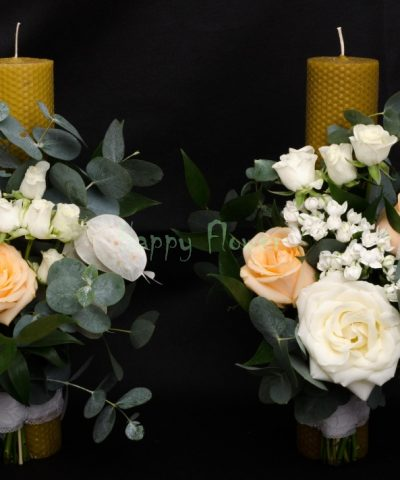 Lumanare-ceara-naturala-fagure-trandafiri-miniroze-eucalipt