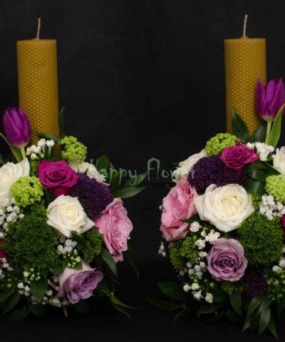 Lumanare-ceara-fagure-trandafiri-colorati
